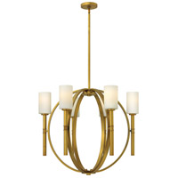 Margeaux 6 Light 29 inch Vintage Brass Chandelier Ceiling Light