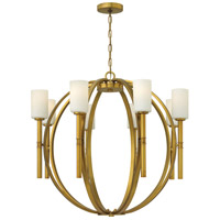 Hinkley 3588VS Margeaux 8 Light 36 inch Vintage Brass Chandelier Ceiling Light