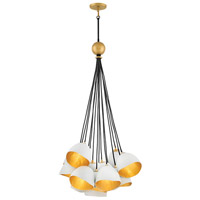 Nula 15 Light 26 inch Shell White Cluster Pendant Ceiling Light