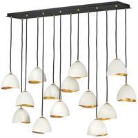 Hinkley 35909SHW Lisa McDennon Nula 14 Light 49 inch Shell White/Gold Leaf Chandelier Ceiling Light