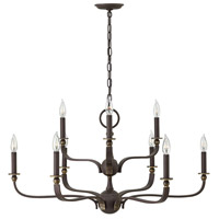 Hinkley 3599OZ Rutherford 9 Light 34 inch Oil Rubbed Bronze Chandelier Ceiling Light