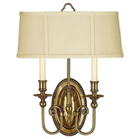 Hinkley 3610BB Cambridge 2 Light 15 inch Burnished Brass ADA Sconce Wall Light