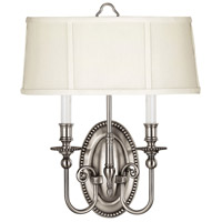 Hinkley 3610PW Cambridge 2 Light 15 inch Pewter ADA Sconce Wall Light