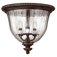 Cambridge 3 Light 15 inch Olde Bronze Foyer Flush Mount Ceiling Light