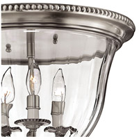 Hinkley 3612PW Cambridge 3 Light 15 inch Pewter Foyer Flush Mount Ceiling Light  alternative photo thumbnail