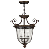 Hinkley 3613OB Cambridge 3 Light 21 inch Olde Bronze Foyer Pendant Ceiling Light Combo Mount