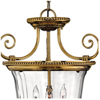 Hinkley 3613BB Cambridge 3 Light 21 inch Burnished Brass Foyer Pendant Ceiling Light alternative photo thumbnail