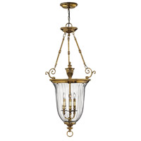 Hinkley 3614BB Cambridge 3 Light 23 inch Burnished Brass Hanging Foyer Ceiling Light