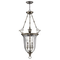 Hinkley Lighting Cambridge 3 Light Hanging Foyer in Pewter 3614PW