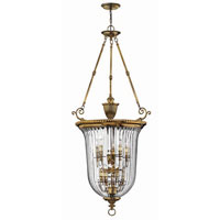 Hinkley Lighting Cambridge 10 Light Hanging Foyer in Burnished Brass 3615BB