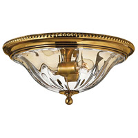 Hinkley Lighting Cambridge 2 Light Flush Mount in Burnished Brass 3616BB