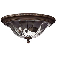 Hinkley Lighting Cambridge 2 Light Flush Mount in Olde Bronze 3616OB