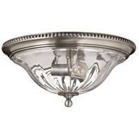 Hinkley Lighting Cambridge 2 Light Flush Mount in Pewter 3616PW