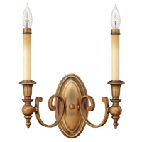 Hinkley 3622BR Yorktown 2 Light 14 inch Brushed Bronze Sconce Wall Light