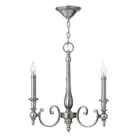 Hinkley Lighting Yorktown 3 Light Chandelier in Antique Nickel 3623AN