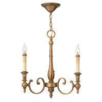Hinkley 3623BR Yorktown 3 Light 20 inch Brushed Bronze Chandelier Ceiling Light