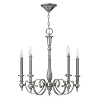 Yorktown 5 Light 24 inch Antique Nickel Chandelier Ceiling Light