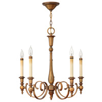 Yorktown 5 Light 24 inch Brushed Bronze Chandelier Ceiling Light