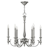 Yorktown 6 Light 28 inch Antique Nickel Chandelier Ceiling Light