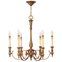 Yorktown 6 Light 28 inch Brushed Bronze Chandelier Ceiling Light