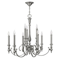 Hinkley 3628AN Yorktown 9 Light 32 inch Antique Nickel Chandelier Ceiling Light