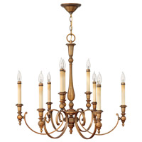 Hinkley Lighting Yorktown 9 Light Chandelier in Brushed Bronze 3628BR