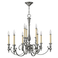 Hinkley 3628AN Yorktown 9 Light 32 inch Antique Nickel Chandelier Ceiling Light alternative photo thumbnail
