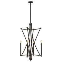 Hinkley 3634OZ Stella 4 Light 22 inch Oil Rubbed Bronze Foyer Ceiling Light