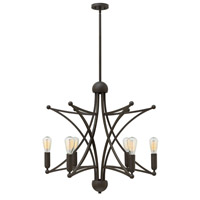 Hinkley 3636OZ Stella 6 Light 31 inch Oil Rubbed Bronze Chandelier Ceiling Light