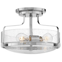 Harper 3 Light 15 inch Chrome Foyer Semi-Flush Ceiling Light