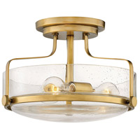 Harper 3 Light 15 inch Heritage Brass Foyer Semi-Flush Ceiling Light