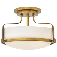 Harper 3 Light 15 inch Heritage Brass Semi Flush Mount Ceiling Light