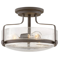 Harper 3 Light 15 inch Oil Rubbed Bronze Foyer Semi-Flush Ceiling Light