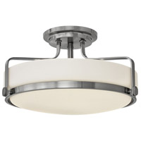 Hinkley 3643BN Harper 3 Light 18 inch Brushed Nickel Foyer Semi-Flush Mount Ceiling Light in Incandescent