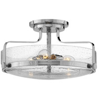 Harper 3 Light 18 inch Chrome Foyer Semi-Flush Ceiling Light