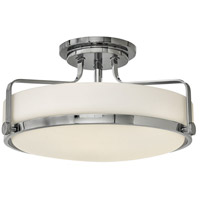 Harper 3 Light 18 inch Chrome Foyer Semi-Flush Mount Ceiling Light in Incandescent