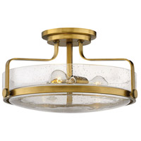 Harper 3 Light 18 inch Heritage Brass Foyer Semi-Flush Ceiling Light