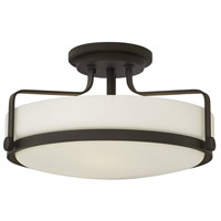 Harper 3 Light 18 inch Oil Rubbed Bronze Foyer Semi-Flush Mount Ceiling Light in Incandescent