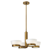Hinkley 3654HB Mercer 4 Light 28 inch Heritage Brass Chandelier Ceiling Light