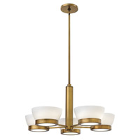 Hinkley 3655HB Mercer 5 Light 30 inch Heritage Brass Chandelier Ceiling Light