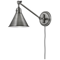 Hinkley 3690PL Arti 1 Light 8 inch Polished Antique Nickel Wall Sconce Wall Light
