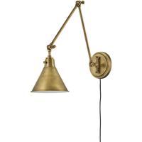 Hinkley 3692HB Arti 1 Light 8 inch Heritage Brass Wall Sconce Wall Light