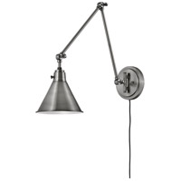 Hinkley 3692PL Arti 1 Light 8 inch Polished Antique Nickel Wall Sconce Wall Light
