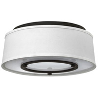 Hinkley 3701KZ Harrison 3 Light 15 inch Buckeye Bronze Flush Mount Ceiling Light, Etched Acrylic Diffuser