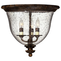 Hinkley 3712FB Rockford 3 Light 15 inch Forum Bronze Foyer Flush Mount Ceiling Light