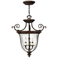 Hinkley 3713FB Rockford 3 Light 21 inch Forum Bronze Foyer Light Ceiling Light, Combo Mount