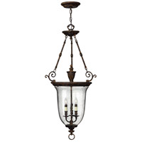 Hinkley 3714FB Rockford 3 Light 23 inch Forum Bronze Hanging Foyer Ceiling Light