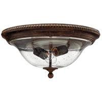 Hinkley Lighting Rockford 2 Light Flush Mount in Forum Bronze 3716FB