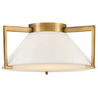 Calla LED 16 inch Brushed Bronze Flush Mount Foyer Light Ceiling Light