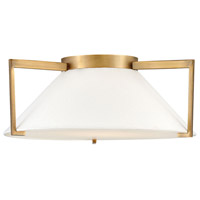 Calla LED 20 inch Brushed Bronze Flush Mount Foyer Light Ceiling Light
